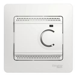 Термостат для теплого пола GLOSSA, с датчиком, белый