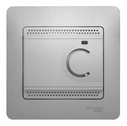 Термостат для теплого пола GLOSSA, с датчиком, алюминий