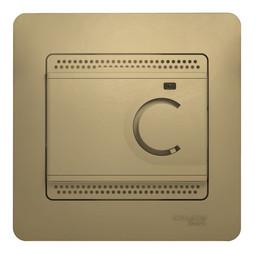 Термостат для теплого пола GLOSSA, с датчиком, титан