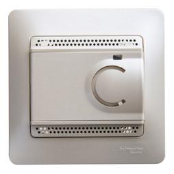 Термостат для теплого пола GLOSSA, с датчиком, перламутр