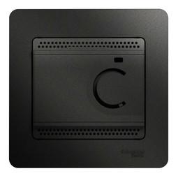 Термостат для теплого пола GLOSSA, с датчиком, антрацит