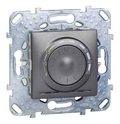 Термостат для теплого пола UNICA TOP, с датчиком температуры пола, графит