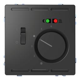 Термостат для теплого пола MERTEN D-LIFE, с датчиком, антрацит