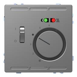 Термостат для теплого пола MERTEN D-LIFE, с датчиком, нержавеющая сталь