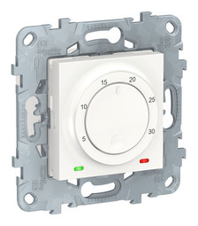 Термостат комнатный UNICA NEW, с датчиком температуры воздуха, белый