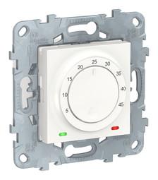 Термостат для теплого пола UNICA NEW, с датчиком температуры пола, белый