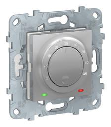 Термостат для теплого пола UNICA NEW, с датчиком температуры пола, алюмиминий