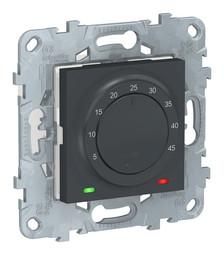 Термостат для теплого пола UNICA NEW, с датчиком температуры пола, антрацит