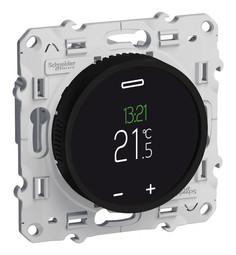 Термостат для теплого пола ODACE, с дисплеем, с внешним датчиком, черный